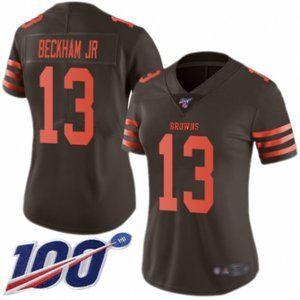 Women Browns Odell Beckham Jr. 100th Season Jersey